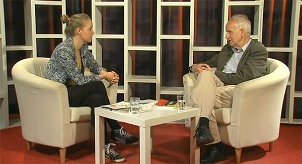 Screenshot mit Camilla Geier und Dirk Schwarze