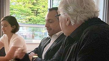 Jour fixe am 08.05.2018 zu Gast: Oberbürgermeister Christian Geselle und Kulturdezernentin Susanne Völker