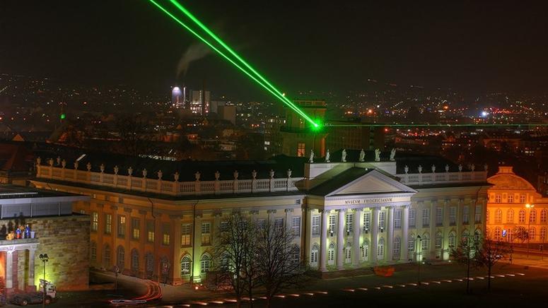 """Das Kunstwerk """"Laserscape"""" von Horst H.Baumann"""
