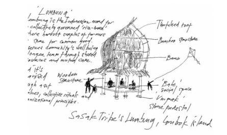 lumbung drawing, image: Iswanto Hartono, 2020