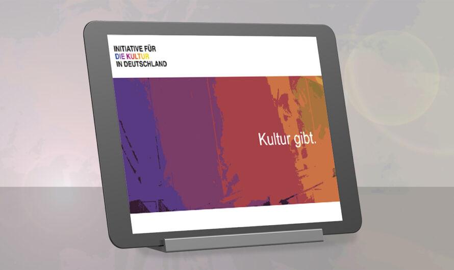 """Rückenwind für die Kultur: """"Initiative für die Kultur in Deutschland"""""""